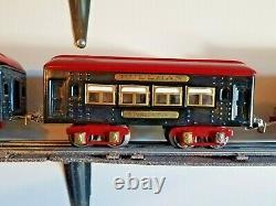 VINTAGE Ives Prewar O Gauge Train Set 3255 MOTOR, 2X135 PARLOR, 136 OBSERVATION