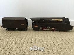 Vintage ELECTRIC FRENCH HORNBY O GAUGE SCNF STREAMLINE 4-4-2 LOCOMOTIVE & TENDER