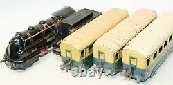 Vintage Jep S. N. C. F 4-4-0 Streamlined Brass Electric 0-gauge Pullman Train Set