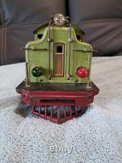 Vintage Lionel prewar standard gauge apple green 408e engine