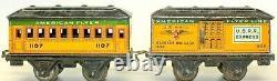 Vintage Pre-war American Flyer Box Cab 0-gauge Yellow #1107 Train Set