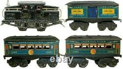 Vintage Pre-war American Flyer Electric 0-gauge #1218 Passenger Train Set