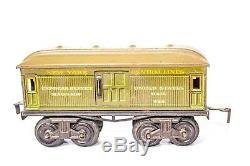 Vintage Pre-war Bing 0-gauge Ny Central Lines #3238 Loco Passenger Train Set